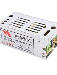 baratos -12V 1A 12W tensão constante AC / DC comutação Converter fonte de alimentação (110-240V para 12V)