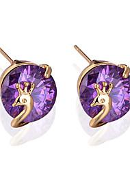 Jian Feng Shell em forma de ouro 18k chapeamento brincos