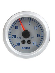 abordables -Turbo Boost Vacuum Gauge Meter para el coche auto 2 52mm 0 ~ 0 ~ 20PSI 30in.Hg Naranja Light