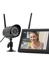 """baratos -7 """"lcd monitor de bebê sem fio 4 ch quad sistema de segurança dvr com 1 câmeras"""