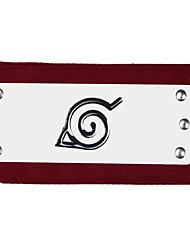 Jóias / Peça para Cabeça Inspirado por Naruto Fantasias Anime Acessórios de Cosplay Bandana Vermelho Liga Masculino