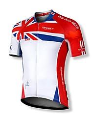 SPAKCT Camisa para Ciclismo Homens Manga Curta Moto Camisa/Roupas Para Esporte Blusas Secagem Rápida Zíper Frontal Á Prova-de-Pó Vestível