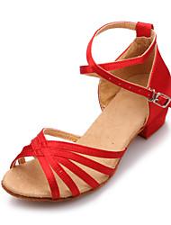 Da donna Balli latino-americani Finta pelle Sandali Professionale Con fermaglio di chiusura Basso Marrone chiaro Nero Rosso Royal Blue