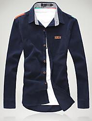 Men's Korean Casual Solid Color Shirt