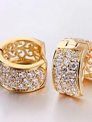 Projeto Zircon 18K Brincos Jian Feng exclusivos chapeamento de ouro ER0446