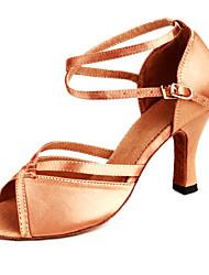 economico -Da donna Balli latino-americani Raso Tacchi Tacco a rocchetto Bronzo Non personalizzabile