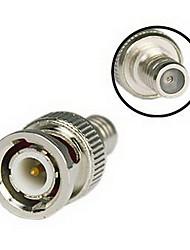 billige -Adapter 100Pcs CCTV RG59 Coax BNC Crimp on Connector for Sikkerhed Systemer 1cm 1kg