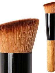 billiga -Professionell Makeupborstar Foundationborste 1 Resan vänster vinklad Multi-funktionell blandning Premium felfri polering stippling Syntetiskt Hår / Artificiella Fiber-borstar för Kaki Flytande Puder