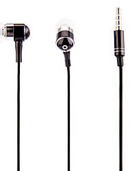 J903 3,5 mm Stilvolle Zipper In-Ear-Kopfhörer mit Mikrofon (Schwarz)