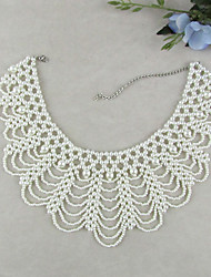cheap -Women's Jewelry Vintage Elegant Bridal Fashion Collar Necklace Pearl Imitation Pearl Collar Necklace , Wedding Party Special Occasion