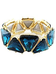 Women's Strand Bracelet Synthetic Gemstones Alloy Geometric Triangle Shape Jewelry For Wedding Party Daily Casual