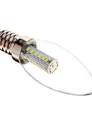 cheap -3W E14 LED Candle Lights C35 25 SMD 3014 180-210 lm Cool White Decorative AC 220-240 V