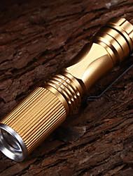 Недорогие -508 Регулируемый фокус 3-Mode 1xCree XP-E R2 водонепроницаемый Светодиодные фонари (1xAA, 150LM) Золото