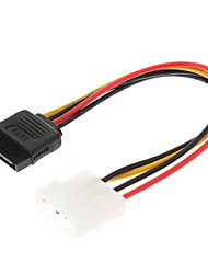 4 Pin IDE to 15 Pin Serial ATA SATA HDD Power Cable(0.15M)