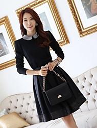 economico -Slim Fit Elegante Abito JFS Corea sytle Donne