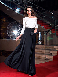 preiswerte -Eng anliegend Kapuze Pinsel Schleppe Stretch - Satin Cocktailparty / Abiball / Formeller Abend Kleid mit durch TS Couture®