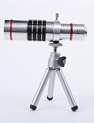 Lega di alluminio 18X Teleobiettivo zoom Set per SAMSUNG S4 - Argento
