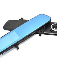 Недорогие -Автомобильные зеркала DVR камеры с двумя объективами 4,3-дюймовый экран 140 градусов G-сенсор обнаружения движения Ночной Vison