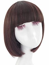 billige -Syntetiske parykker Med bangs / pandehår Syntetisk hår Med Bangs Paryk Dame