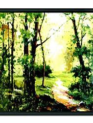 economico -dipinti a mano paesaggio boschi incorniciati pittura a olio decorazione della casa