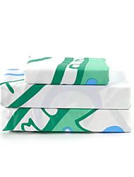 baratos -Jogo de Lençóis - Microfibra Folha 1pç de Leçol Raso 1pç Lençol Ajustável Fronhas 2pcs (apenas 1pc fronha para Duplo ou Single)
