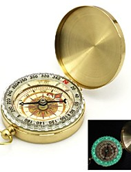 cheap -Flip-Open Gold Plated noctilucent Pocket Compass
