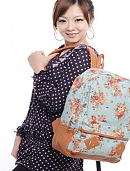 Women Bags All Seasons Canvas Backpack for Casual Blue