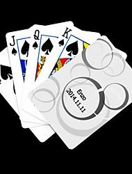 abordables -Cadeau personnalisé White Dot Motif Carte de jeu pour Poker