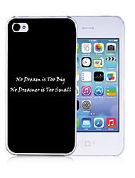 billige -personlig motiverende ord mønster sort ryg tilfældet for iPhone 4/4S
