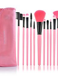 billiga -12st Makeupborstar Professionell Borstsatser Syntetiskt Hår / Artificiella Fiber-borstar Begränsar bakterier