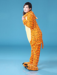 Unisex Jumping Tigger Coral Fleece Kigurumi Pajamas Cartoon Sleepwear Animal Halloween Costume