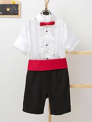 Misto cotone/sintetico Completo da paggetto - 4 Pezzi Include Pantaloni Fascia per smoking Camicia Papillon