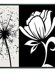 Pittura floreale fiore bianco olio di arte con cornice