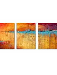 economico -Dipinta a mano Astratto Tre Pannelli Tela Hang-Dipinto ad olio For Decorazioni per la casa