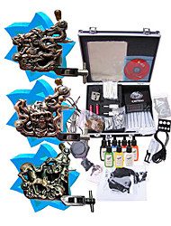 Tattoo Machine Kit Completed Set With 3 Tattoo Machines