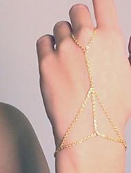 ราคาถูก -สำหรับผู้หญิง สร้อยข้อมือโซ่และเชื่อมโยง สร้อยข้อมือแหวน สร้อยข้อมือ เครื่องประดับ สีเงิน / ทอง สำหรับ ปาร์ตี้ ทุกวัน ที่มา