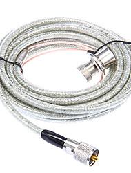 Huahong RC-5m-Kabel für UHF Walkie Talkie - Transparent + Silber (5M Länge)