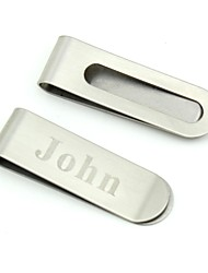 cheap -Groom Groomsman Stainless Steel Money Clips Wedding
