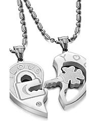 Недорогие -Первоначальные ювелирные изделия Ожерелья с подвесками Заявление ожерелья Титановая сталь Ожерелья с подвесками Заявление ожерелья ,