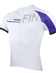 ILPALADINO Cycling Jersey Men's Short Sleeves Bike Jersey Tops Quick Dry Ultraviolet Resistant Breathable 100% Polyester Patchwork Spring