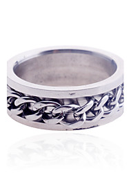 Lureme®Men's Chain Stainless Steel Ring Christmas Gifts