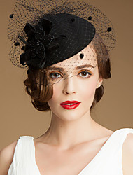cheap -Gemstone & Crystal / Wool / Tulle Hats / Headpiece with Crystal 1 Wedding / Special Occasion / Party / Evening Headpiece