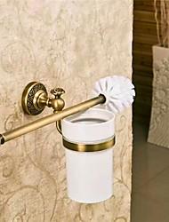 abordables -Gendarmerie style antique mur porteur de brosse de toilettes
