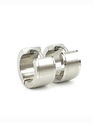 cheap -Fashion  Men's Silver 316L Stainless Steel Metal  Hoop Earring  Christmas Gifts