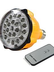 E27 4W LED bianco Luce di emergenza torcia elettrica ricaricabile Spotlight con telecomando