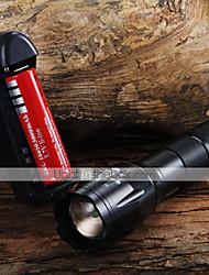 LED Taschenlampen Hand Taschenlampen LED 1600 lm 3 Modus Cree XM-L T6 einstellbarer Fokus Zoomable- für Camping / Wandern / Erkundungen