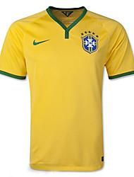 Copa do Mundo 2014 copa do mundo jerseys Brasil jogo em casa amarela (os fãs)