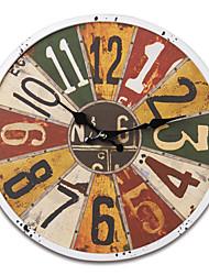 """13.5 """"H Retro pastello stile di disegno del metallo Orologio da parete"""