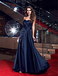 Sheath / Column Sweetheart Sweep / Brush Train Satin Prom Formal Evening Dress with Side Draping by TS Couture®