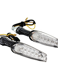 DIY Waterproof 6-LED Turn Signals Blue Light for Motorcycles(DC12-16V 1W 2-Piece)